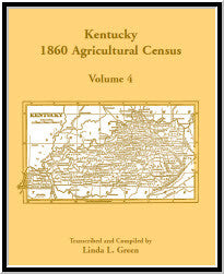 Kentucky 1860 Agricultural Census, Volume 4