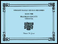 Wright Family Census Records, Franklin County, Virginia, 1810-1900
