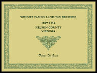 Wright Family Land Tax Lists: 1809 to 1850, Nelson County, Virginia