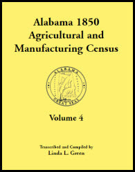 Alabama 1850 Agricultural and Manufacturing Census, Volume 4