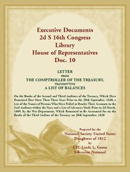 Executive Documents 2d S 16th Congress Library House of Representatives, Doc. 10