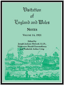 Visitation of England and Wales Notes : Volume 14, 1921
