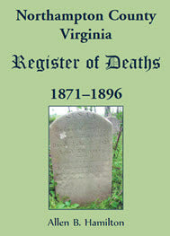 Northampton County, Virginia, Register of Deaths, 1871–1896