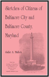 Sketches of Citizens of Baltimore City and Baltimore County, Maryland