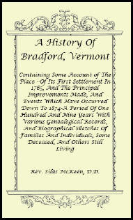 A History Of Bradford, Vermont
