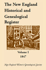 The New England Historical and Genealogical Register, 1847