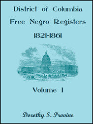 District of Columbia Free Black Registers