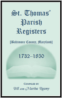 St. Thomas' Parish Registers, Baltimore County, Maryland, 1732-1850