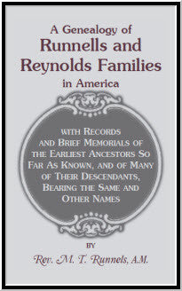 A Genealogy of Runnells and Reynolds Families In America