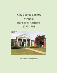 King George County, Virginia Deed Books, 1792-1794