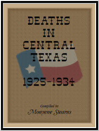 Deaths in Central Texas, 1925-1934