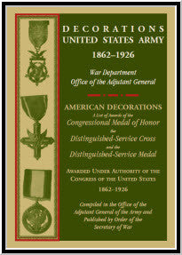 Decorations United States Army, 1862-1926