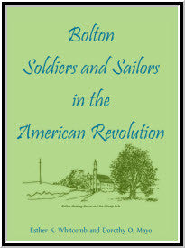 Bolton Soldiers and Sailors in the American Revolution