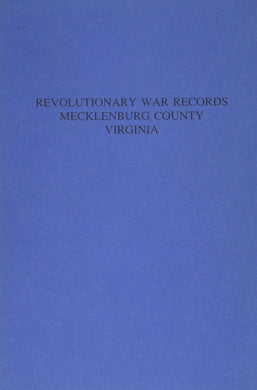 Mecklenburg County, Virginia Revolutionary War Records