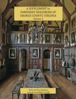 A Supplement to Pamunkey Neighbors of Orange County, Virginia, Volume 2