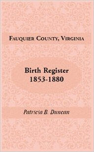 Fauquier County, Virginia, Birth Register, 1853-1880