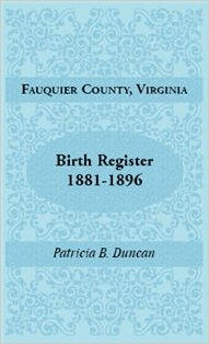 Fauquier County, Virginia, Birth Register, 1881-1896