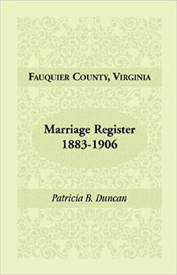 Fauquier County, Virginia, Marriage Register, 1883-1906