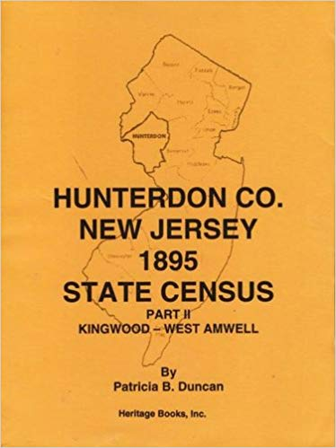 Hunterdon County, New Jersey, 1895 State Census, Part II: Kingwood-West Amwell