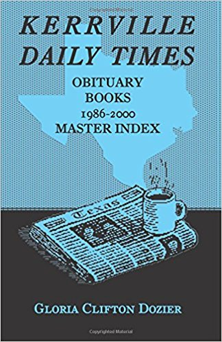 Kerrville Daily Times Obituary Books, 1986-2000, Master Index
