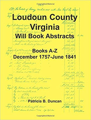 Loudoun County, Virginia Will Book Index, 1757-1946