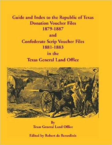Guide and Index to the Republic of Texas Donation Voucher Files, 1879-1887, and Confederate Script Voucher Files, 1881-1883, in the Texas General Land Office