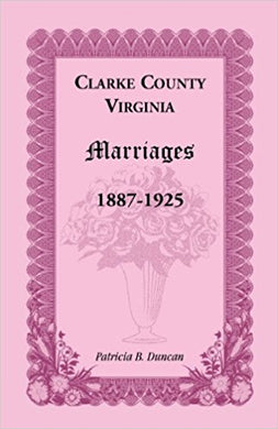 Clarke County, Virginia Marriages, 1887-1925