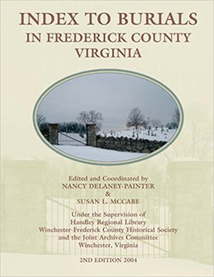 Index to Burials in Frederick County, Virginia