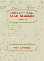 Essex County, Virginia Death Records, 1856-1896