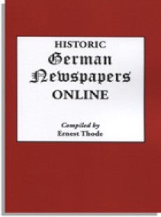 Historic German Newspapers Online