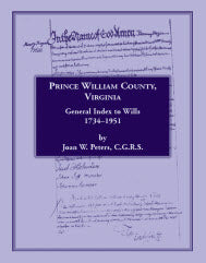 Prince William County, Virginia, General Index to Wills, 1734-1951