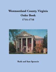 Westmoreland County, Virginia Order Book, 1714–1716