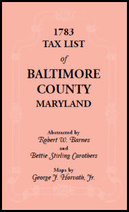 1783 Tax List of Baltimore County