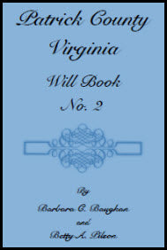 Patrick County, Virginia, Will Book, No. 2