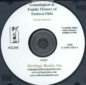 CD: Genealogical and Family History of Eastern Ohio