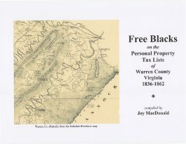 Free Blacks on the Warren County, Virginia Personal Property Tax Lists, 1836-1862