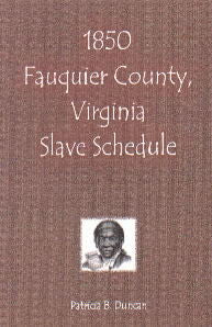 1850 Fauquier County, Virginia, Slave Schedule