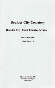 Boulder City Cemetery, Boulder City, Clark County, Nevada, 1942 to June 2000