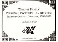 Wright Family Personal Property Tax Records for Bedford County, Virginia, 1782 to 1850