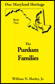 Our Maryland Heritage, Book 9: The Purdum Families
