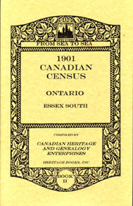 1901 Canadian Census Ontario: Essex South, Volumes I and II