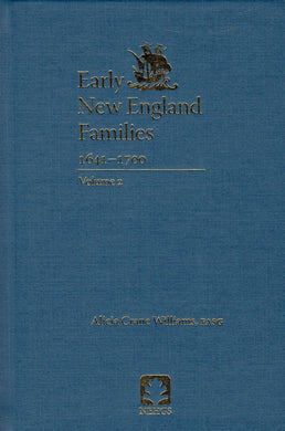Early New England Families, 1641-1700: Volume 2 (cloth)