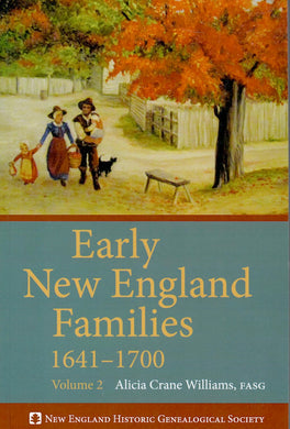 Early New England Families, 1641-1700: Volume 2 (paper)
