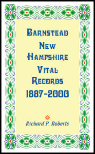 Barnstead, New Hampshire Vital Records, 1887-2000