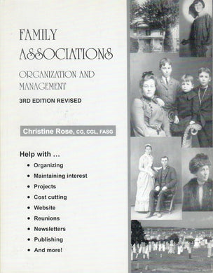 Family Associations: Organization and Management
