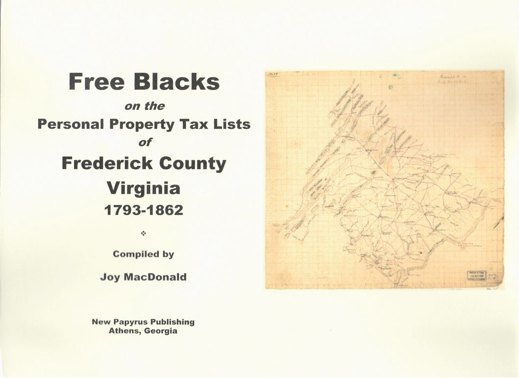 Free Blacks on the Frederick County, Virginia Personal Property Tax Lists, 1793-1862