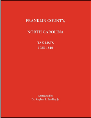 Franklin County, North Carolina, Tax Lists 1785-1810