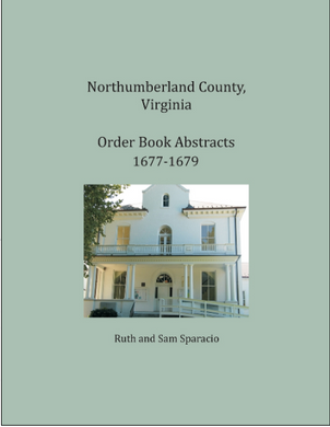 Northumberland County, Virginia Order Book, 1677-1679