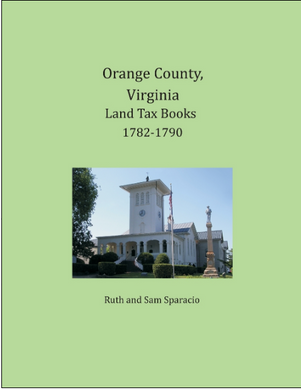 Orange County, Virginia Land Tax Book, 1782-1790