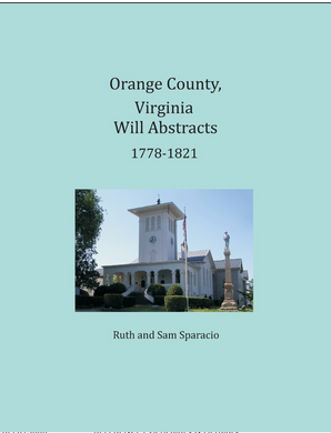 Orange County, Virginia Will Abstracts, 1778-1821